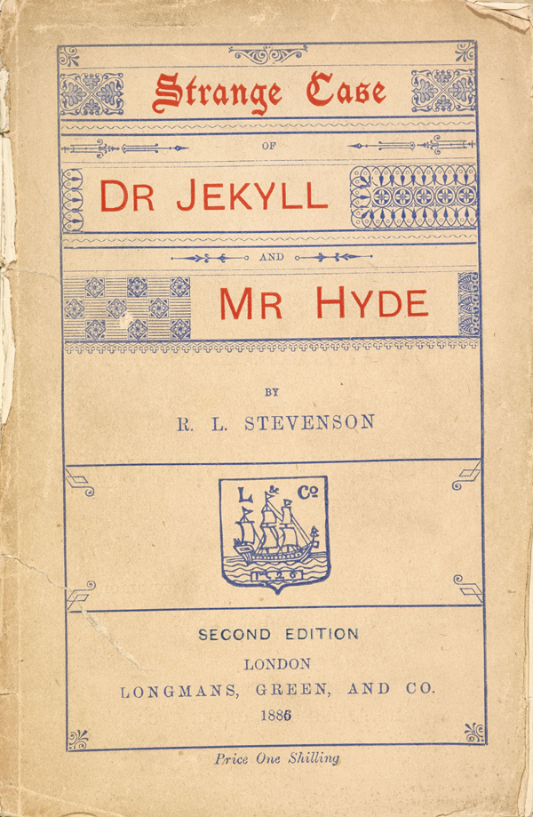 1866 edition of Strange Case of Dr Jekyll and Mr Hyde by Robert Louis Stevenson